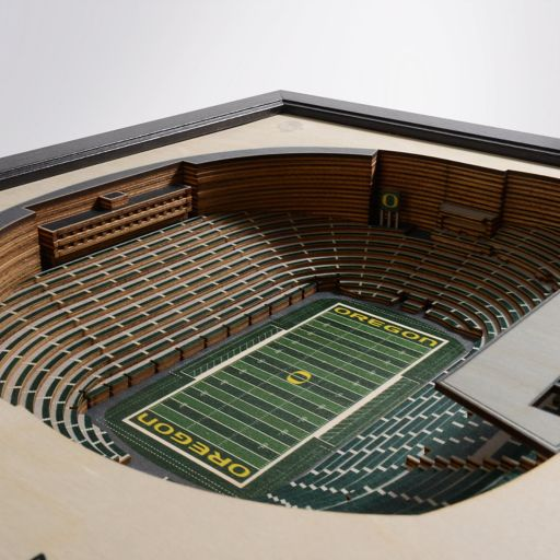 Oregon Ducks StadiumViews 3D Wall Art
