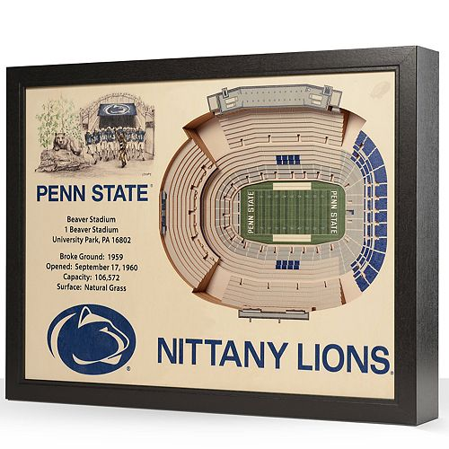 Penn State Nittany Lions StadiumViews 3D Wall Art