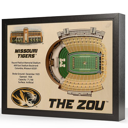 Missouri Tigers StadiumViews 3D Wall Art