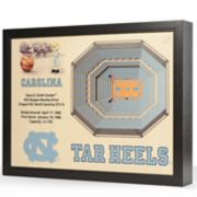 North Carolina Tar Heels StadiumViews 3D Wall Art