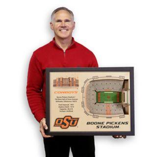 Oklahoma State Cowboys StadiumViews 3D Wall Art