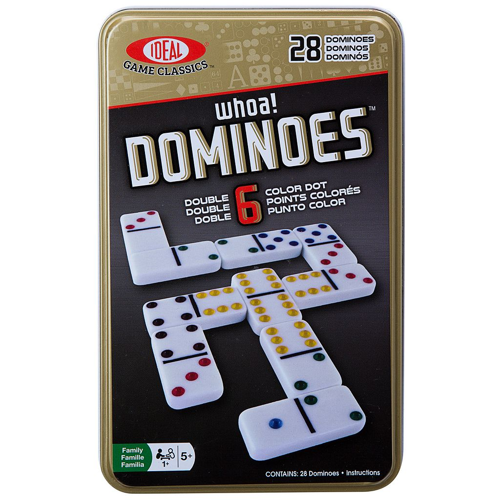 Ideal 28-pc. Whoa! Colored Dot Dominoes