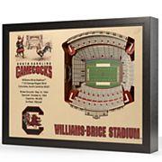 South Carolina Gamecocks StadiumViews 3D Wall Art