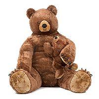 Melissa & Doug Jumbo Mama Bear & Cub Plush Toy