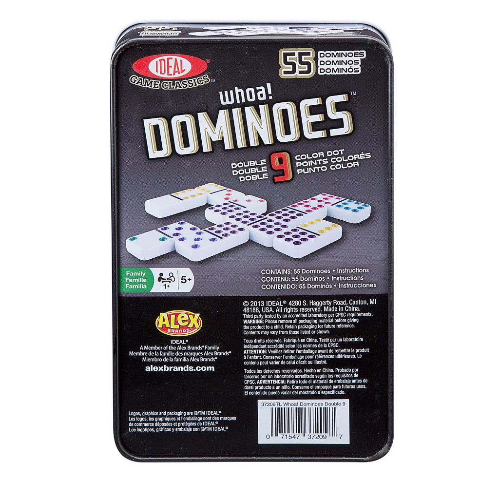 Ideal 55-pc. Whoa! Colored Dot Dominoes