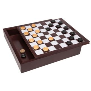 Ideal Wood Checkers Board Game
