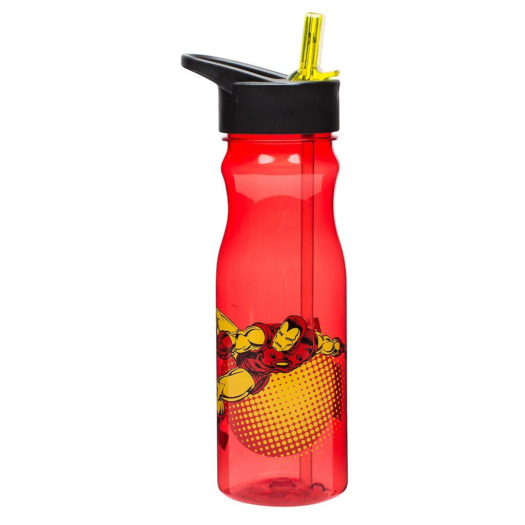 Zak Designs Iron Man 25-oz. Insulated Straw Water Bottle