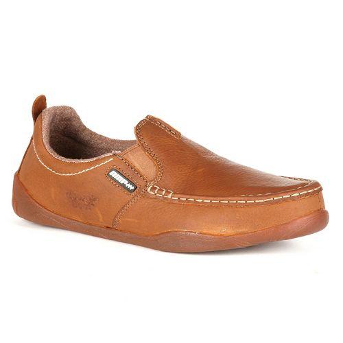 Georgia Boot Cedar Falls Men's Moc-Toe Slip-On Shoes