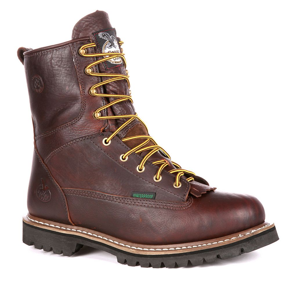 a9190c1d12c Georgia Boot Loggers Men's 8-in. Waterproof Work Boots