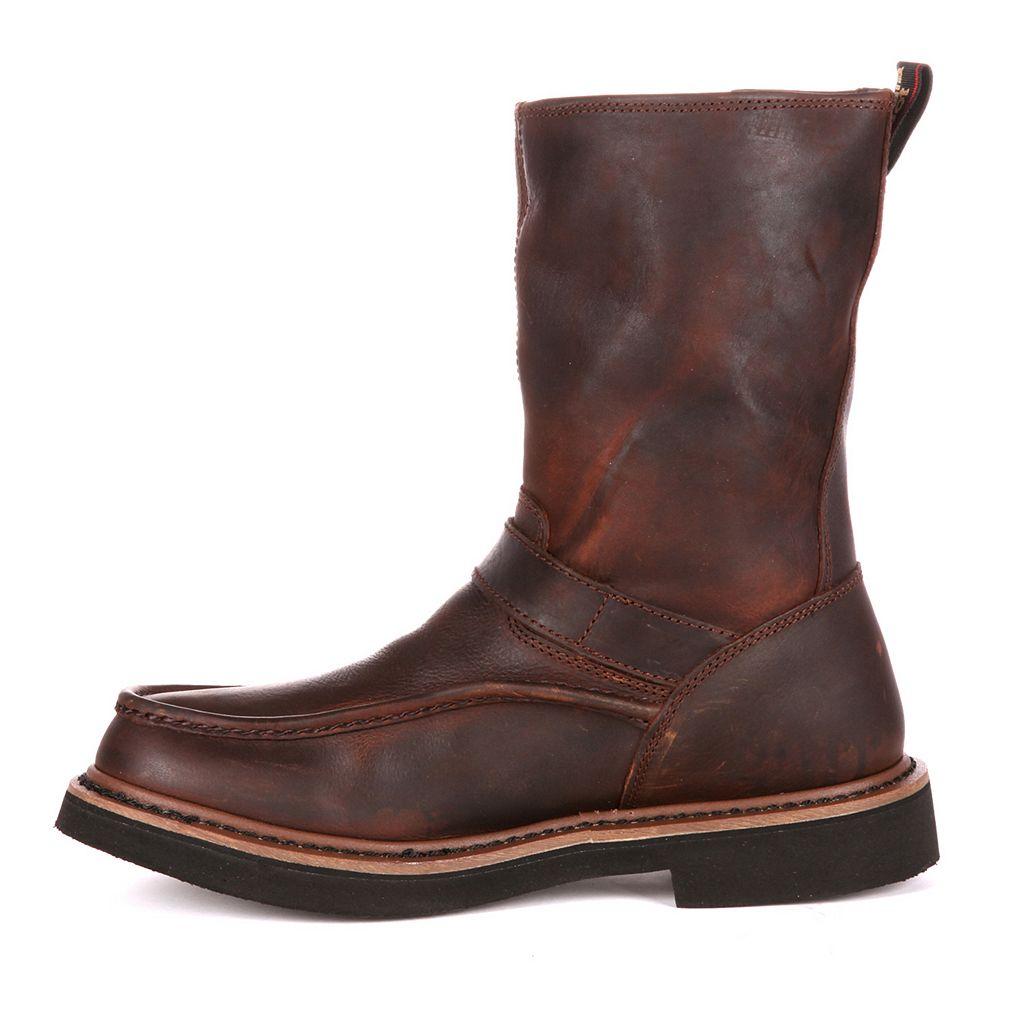 Georgia Boot Side-Zip Men's 10-in. Waterproof Wellington Work Boots