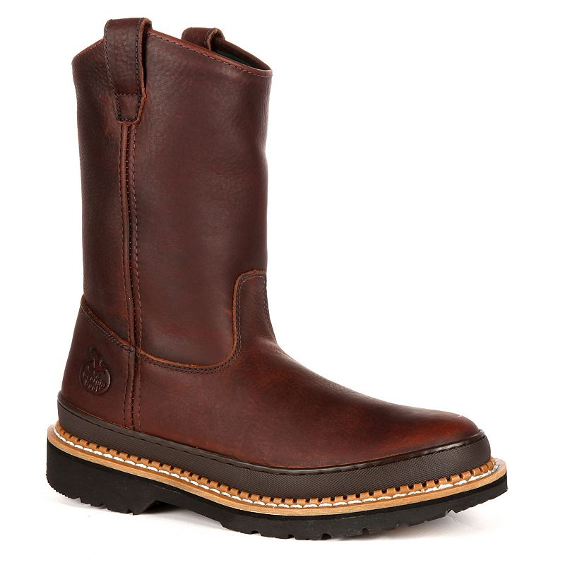 Georgia Boot Giant Men's 9-in. Wellington Work Boots, Size: 11 Wide, Brown -  0004353840403