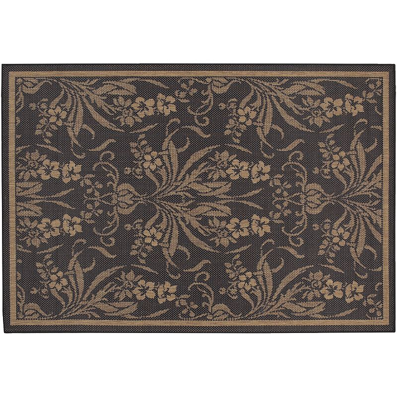 Couristan Garden Cottage Floral Indoor Outdoor Rug, Black, 2X3.5 Ft Fashion in bloom. Add a lovely look to your living space with this Couristan Garden Cottage floral rug.FEATURES Indoor & outdoor use Water, mold, mildew & fade resistant Floral pattern CONSTRUCTION & CARE Courtron polypropylene Spot clean Manufacturer's 1-year limited warrantyFor warranty information please click here Imported Attention: All rug sizes are approximate and should measure within 2-6 inches of stated size. Pattern may also vary slightly. This rug does not have a slip-resistant backing. Rug pad recommended to prevent slipping on smooth surfaces. . Size: 2X3.5 Ft. Color: Black. Gender: unisex. Age Group: adult. Material: Synthetic.