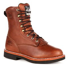Georgia Boot Farm & Ranch Lacer Men's 8 in Work Boots