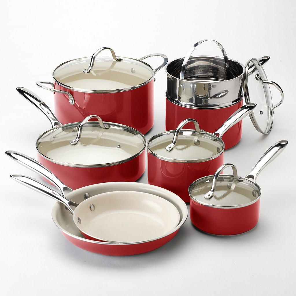 Food Network  Pc Ceramic Cookware Set