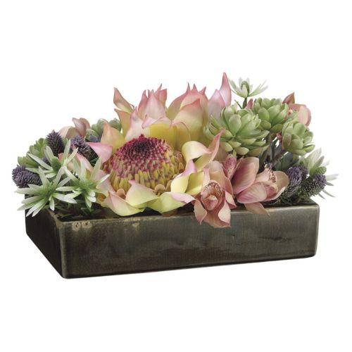 Protea & Cymbidium Artificial Flower Arrangement