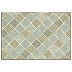 Couristan Monaco Meridian Geometric Indoor Outdoor Rug