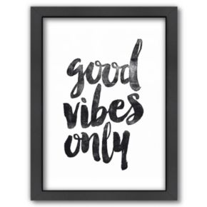 "Americanflat ""Good Vibes Only"" Framed Wall Art"
