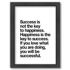 Americanflat 'Happiness Is Success' Framed Wall Art
