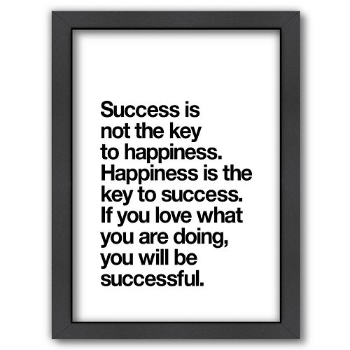 "Americanflat ""Happiness Is Success"" Framed Wall Art"