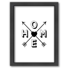 "Americanflat ""HOME"" Framed Wall Art"