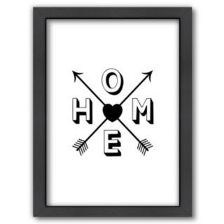 "Americanflat ""HOME"" Framed Wall Art"