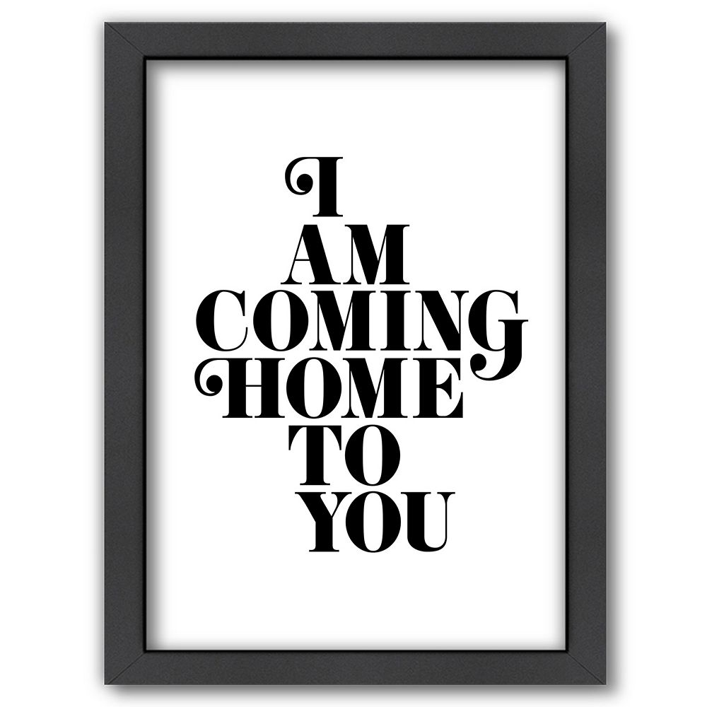 """Americanflat """"Coming Home To You"""" Framed Wall Art"""