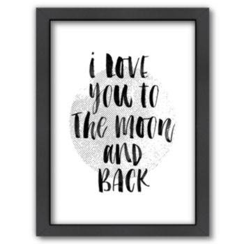 """Americanflat """"I Love You To The Moon"""" Framed Wall Art"""