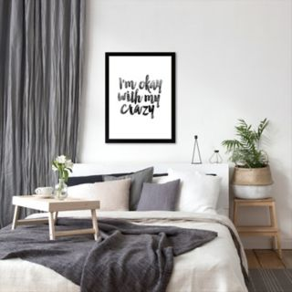"""Americanflat """"I'm Okay With My Crazy"""" Framed Wall Art"""