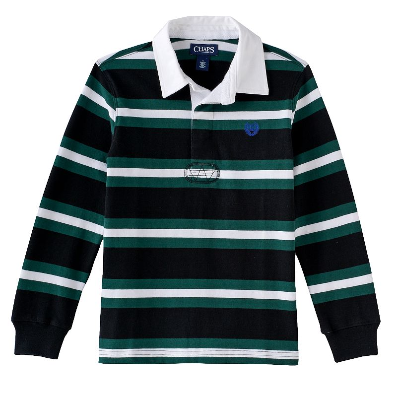 Boys 4-7 Chaps Striped Rugby Polo