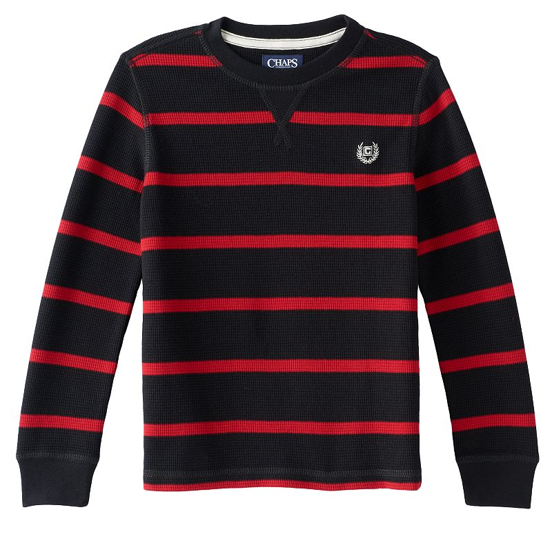 Boys 4-7 Chaps Striped Thermal Tee