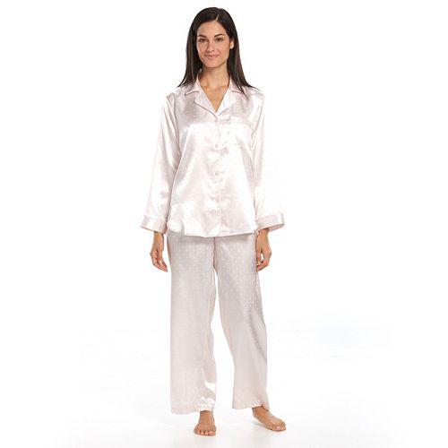Women's Miss Elaine Essentials Pajamas: Satin Pajama Set