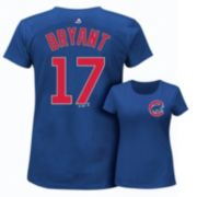 Plus Size Majestic Chicago Cubs Kris Bryant Player Name and Number Tee