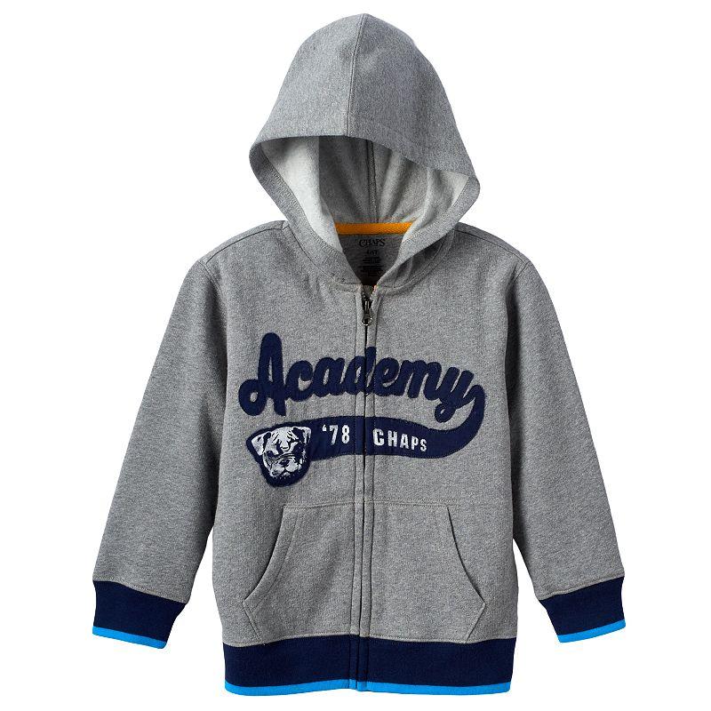Boys 4-7 Chaps Full-Zip Fleece Hoodie