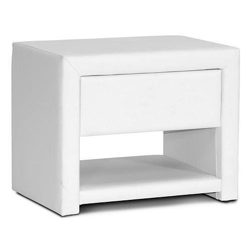 Baxton Studio Massey Upholstered Modern Nightstand