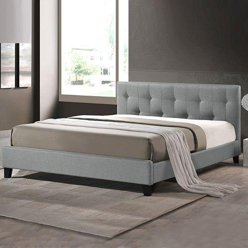Baxton Studio Annette Upholstered Headboard Modern Bed