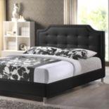 Baxton Studio Carlotta Upholstered Modern Bed