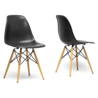 Baxton Studio 2-Piece Azzo Modern Shell Chair Set