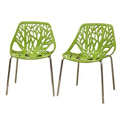 Baxton Studio 2-Piece Birch Sapling Accent Chair Set
