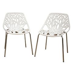 Baxton Studio 2-Piece Birch Sapling Accent Chair Set