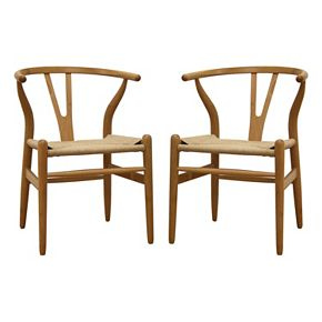 baxton studio wishbone chair null