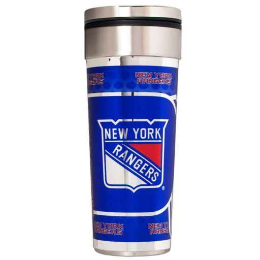 New York Rangers Stainless Steel Metallic Travel Tumbler