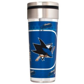 San Jose Sharks 22-Ounce Stainless Steel Metallic Travel Tumbler