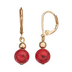 Chaps Bead Drop Earrings