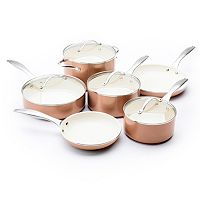 Trisha Yearwood Precious Metals by GreenPan 10-pc. Copper Nonstick Aluminum Cookware Set