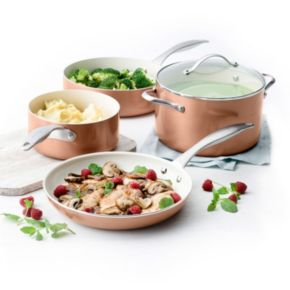 Trisha Yearwood Precious Metals by GreenPan 10-pc. Nonstick Aluminum Cookware Set