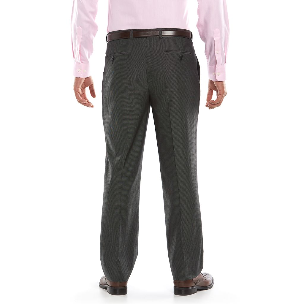 Men's Apt. 9 Slim-Fit Black Pindot Flat-Front Suit Pants