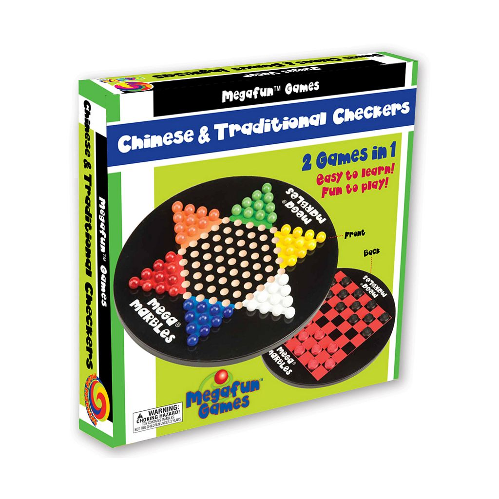 Chinese and Traditional Checkers Board Game