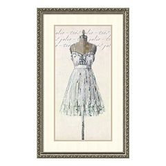 'Tres Jolie Very Pretty' Dress Framed Wall Art