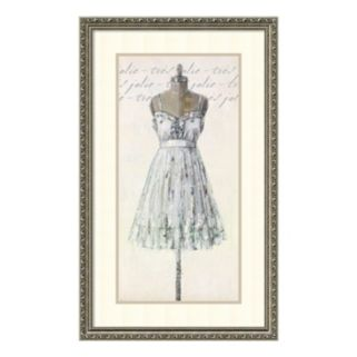"""Tres Jolie Very Pretty"" Dress Framed Wall Art"