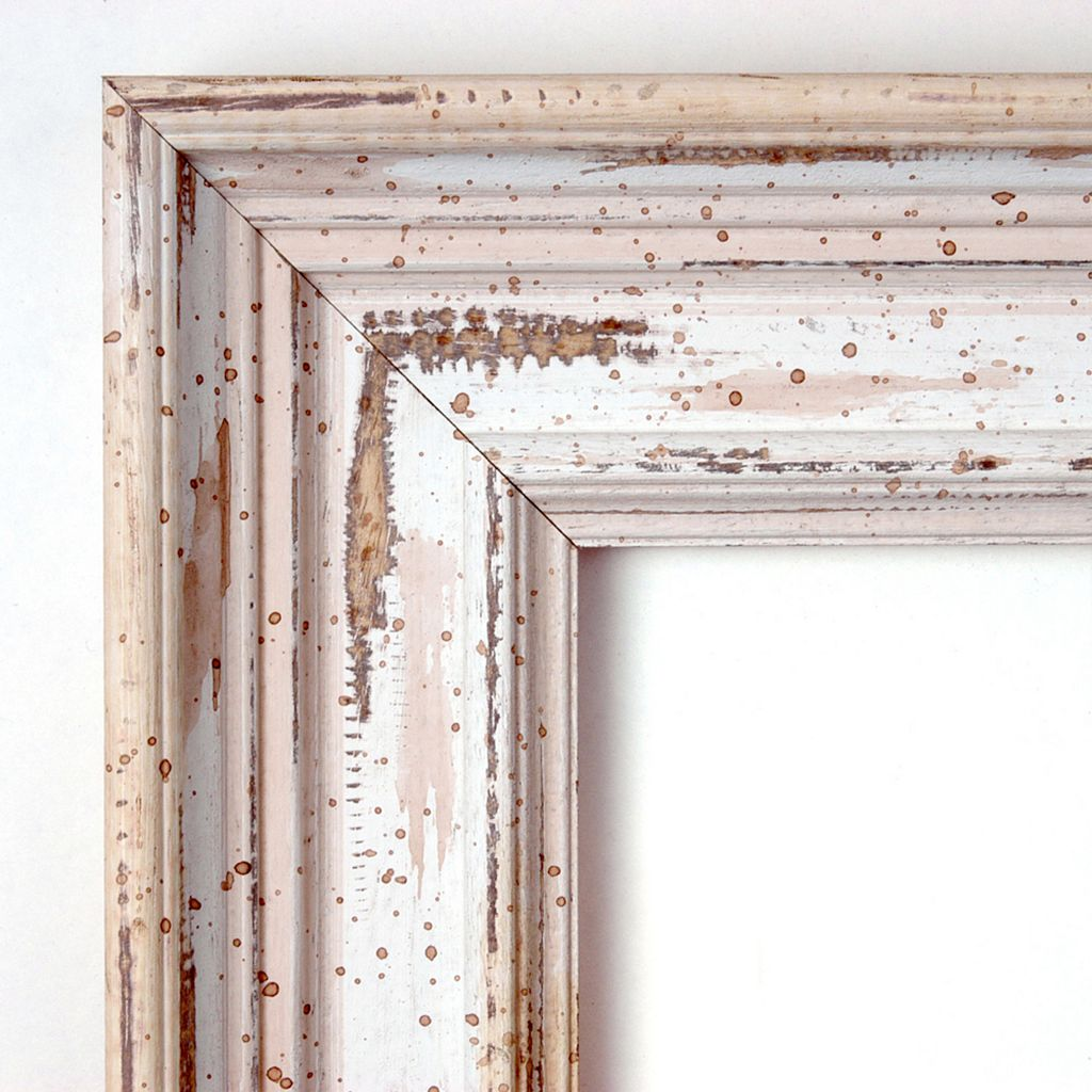 Alexandria Whitewash Distressed Wood Wall Mirror
